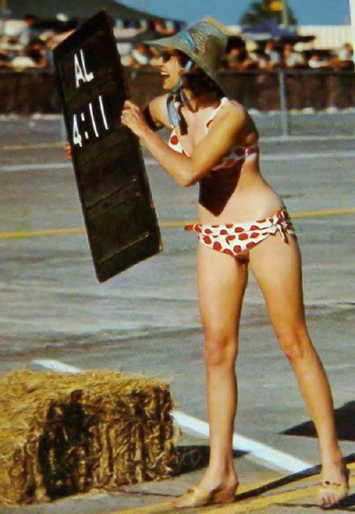 1963 Sebring bikini chick pit crew