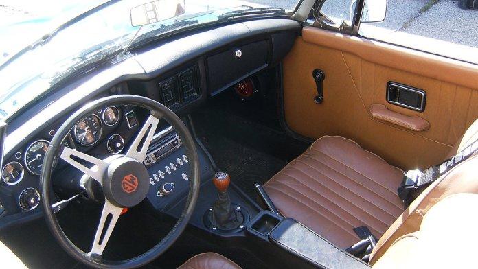 1973 MGB Mazda 13B interior