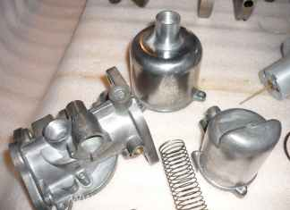 Polished SU HS4 Carburetor Parts
