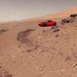 Red Tesla on Mars