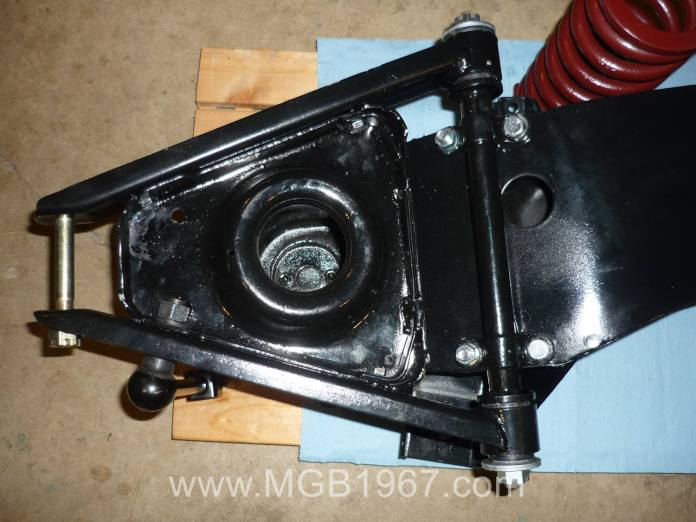 Repainted MGB a-arm and pivot