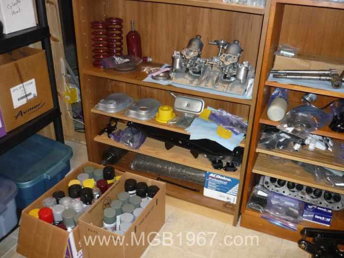 MGB GT car parts
