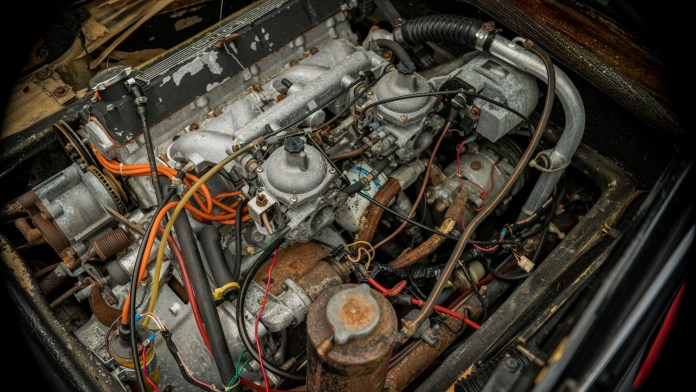 1978 Lotus Esprit project rusted engine