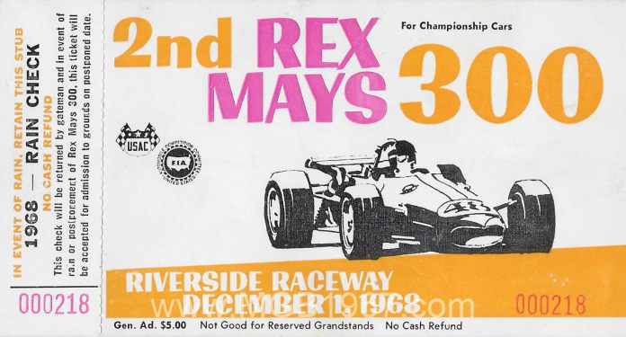 Rex Mays 300 ticket