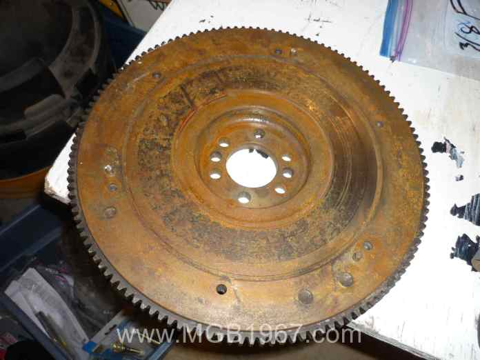 Rusty MGB flywheel