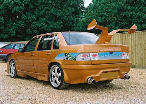 WTF double car spoiler