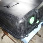 MGB GT fuel tank ready for undercoat
