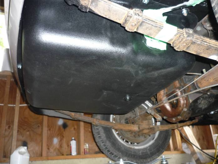 MGB GT new gas tank installed