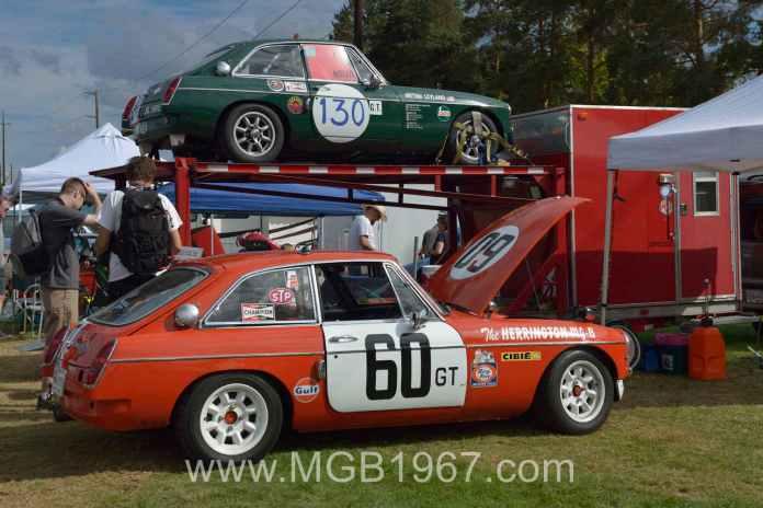 1967 MG BMC Works GT and 1967 MGB GT Sebring