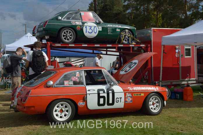 1967 MG BMC Works GT and 1967 MGB GT Sebring