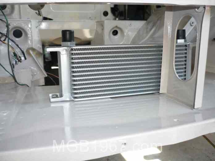 MGB GT engine bay