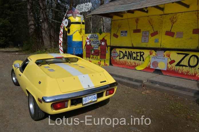 Lotus Europa danger zone