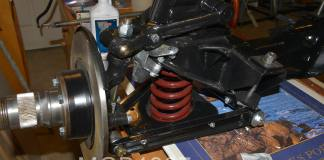 Rebuilt MGB GT front suspension