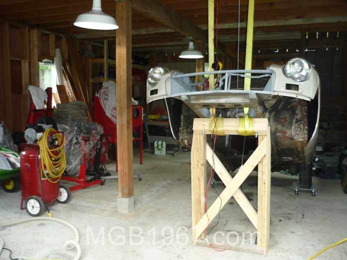 MGB GT in my barn