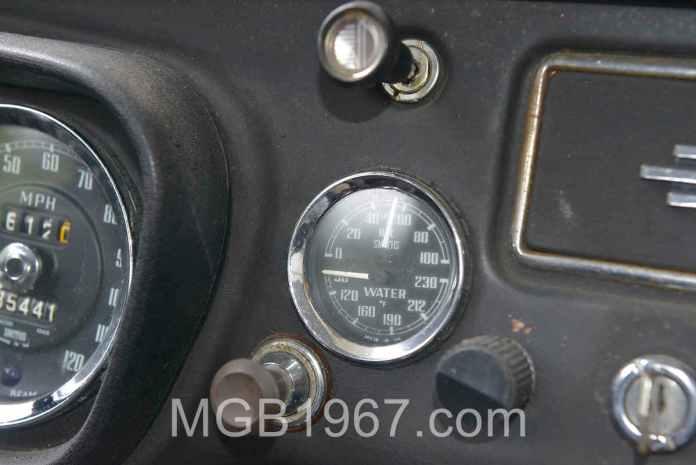 MGB GT oil pressure