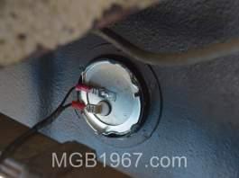 MGB GT fuel sender installed