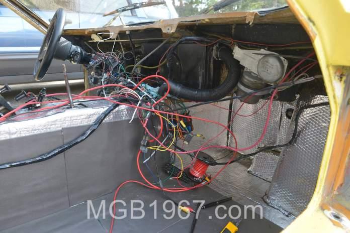 Noico 80 mil car sound deadening mat in Lotus footwell
