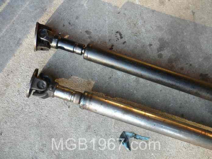 Painted MGB GT driveshaft