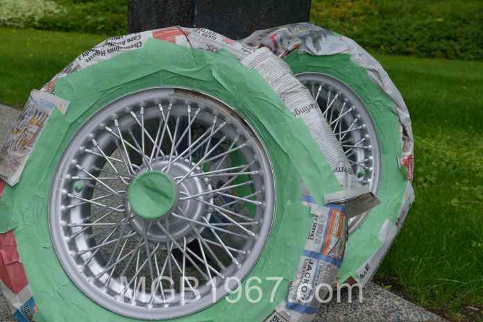 Masking MGB wheels for paint