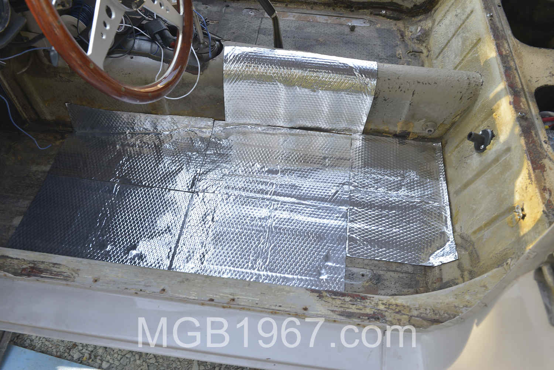 MGB GT original sound deadening insulation