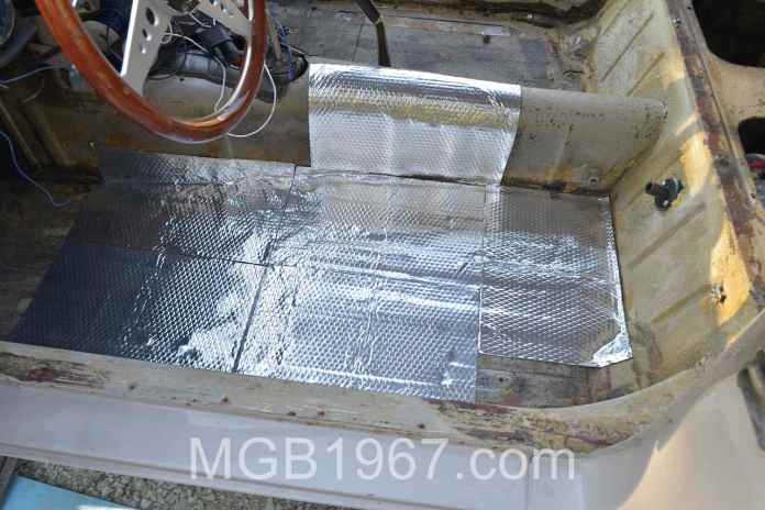 Noico 80 mil sound deadening mat in MGB GT