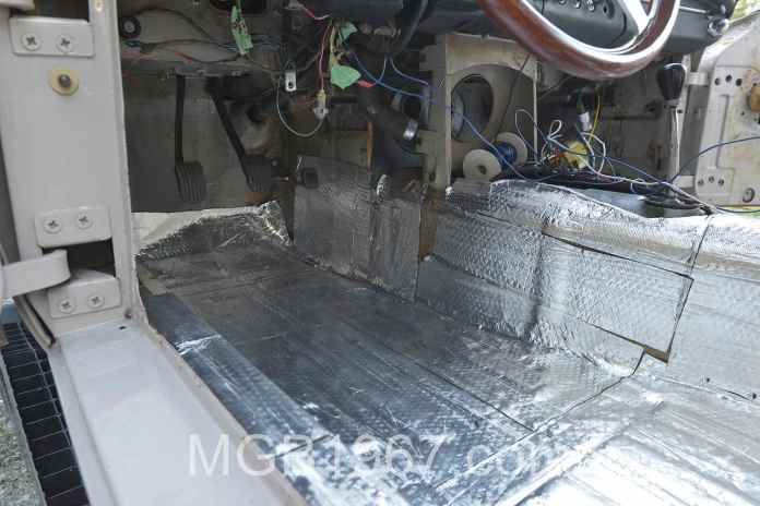 Noico sound deadening mat installed in MGB GT