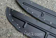 Painted MGB GT splash panels