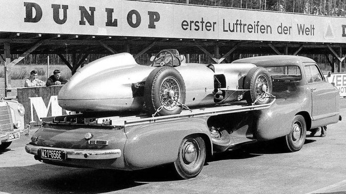 Mercedes Benz Blue Wonder Racing Car Transporter