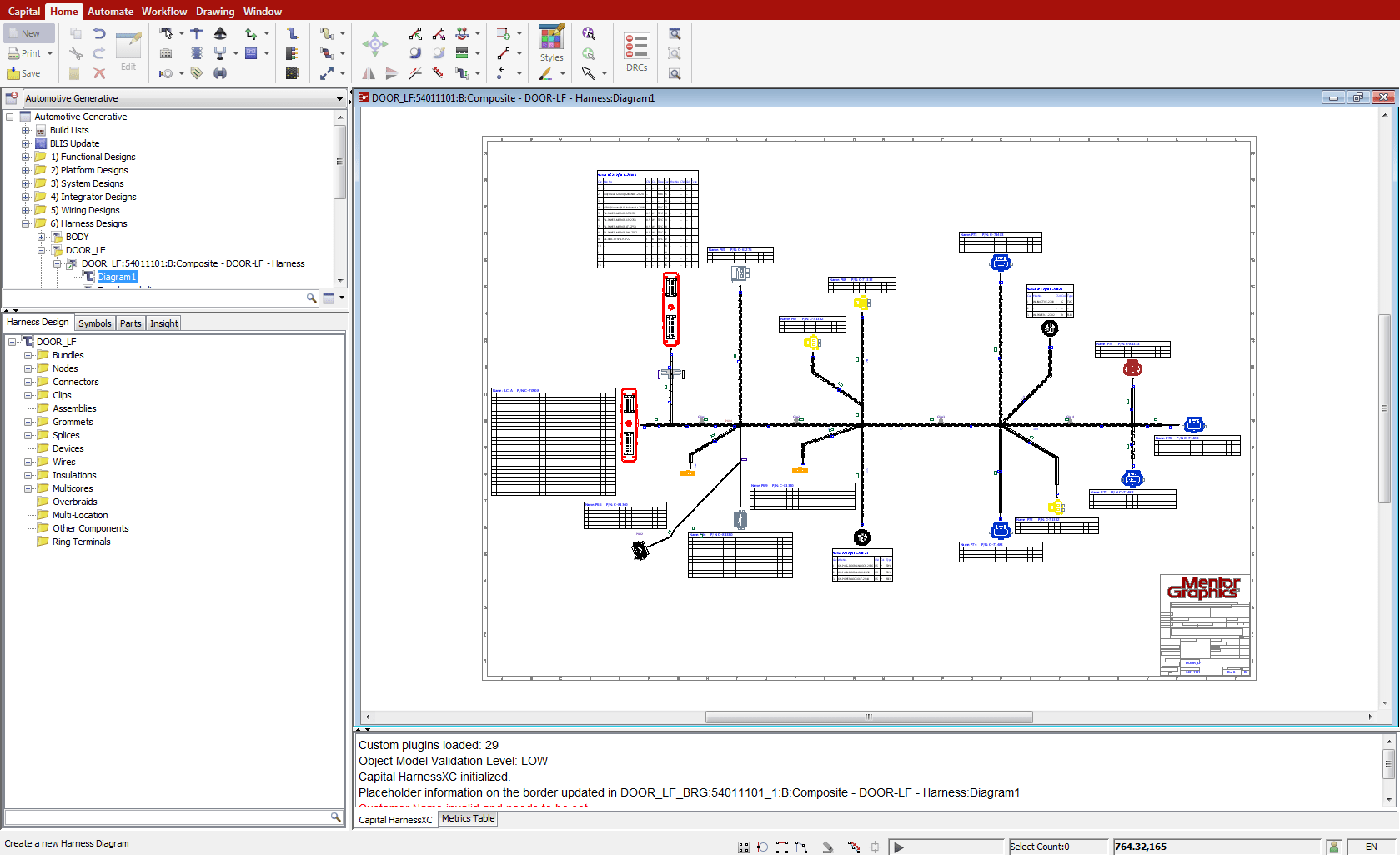 capital harnessxc mentor graphics wire harness standards print [ 1679 x 1026 Pixel ]