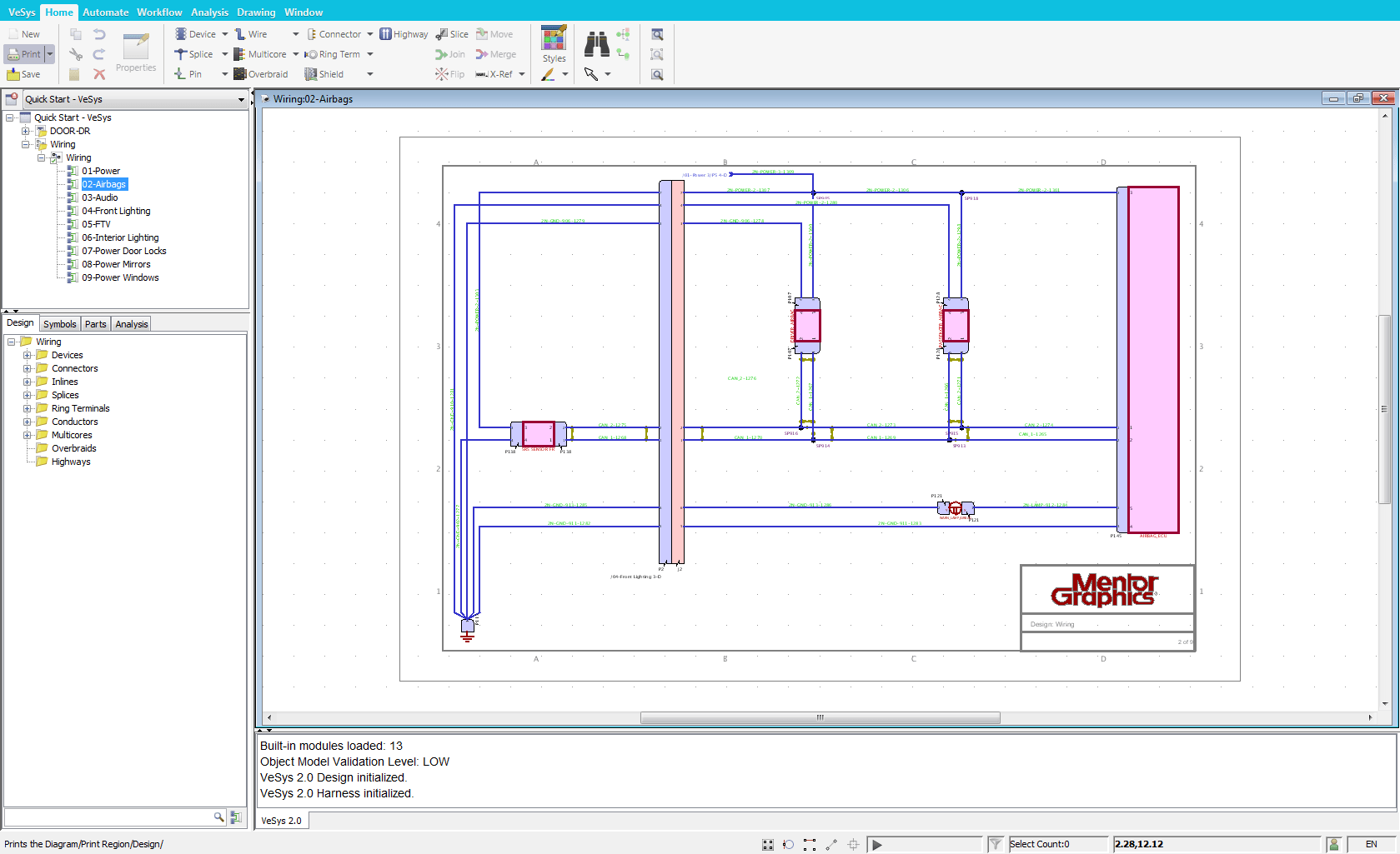medium resolution of vesys design is graphical authoring environment for creating vehicle wiring diagrams via an intuitive user interface and electrically intelligent symbols