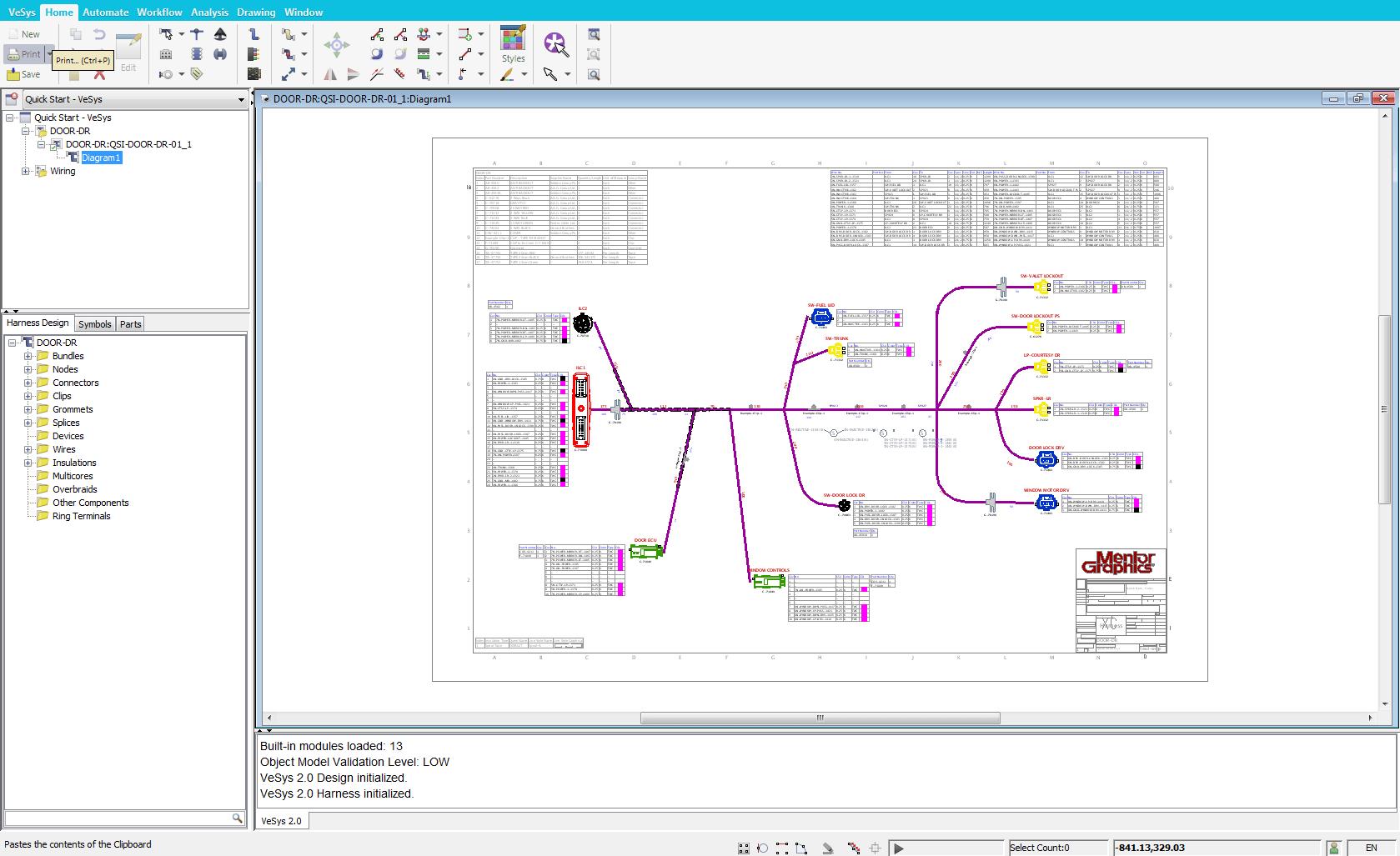 vesys harness rapid harness design completion [ 1679 x 1027 Pixel ]