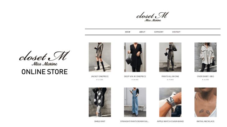 closetM公式オンラインストアオープン!