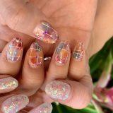 【nail】今月はきらきらカラフルネイル🌈✨