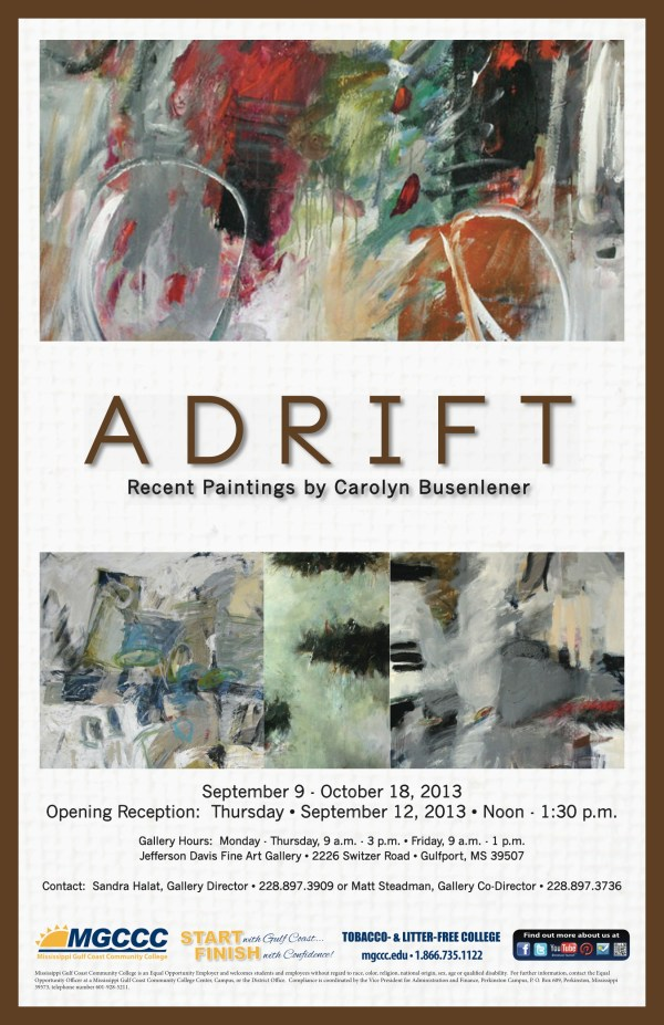 Jefferson Davis Campus Fine Arts Hosts Adrift Carolyn Busenlener - Mississippi Gulf