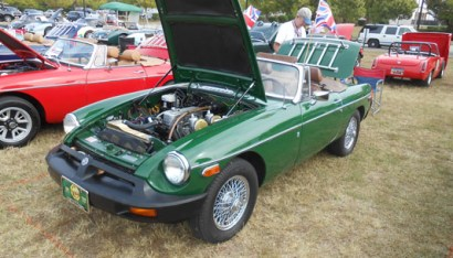 AMGBA Meet 2019 - 3rd place Rubber Bumper MGB - Billy & Kathleen Morris, '77 green MGB, Myrtle Beach, SC