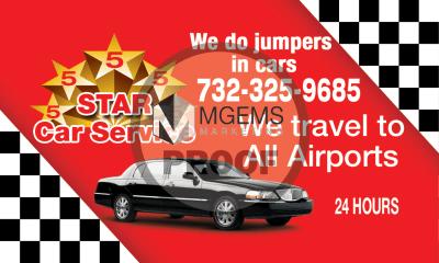 5 Star Car Service Business Card