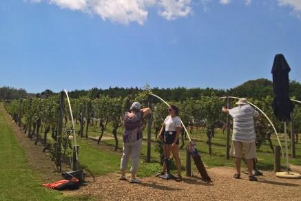 Archery after wine? Sure!