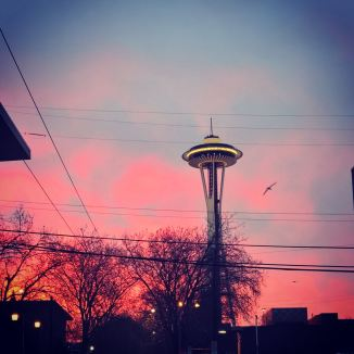 Captured this on early morning trip to work. These are actual colors in the sky.