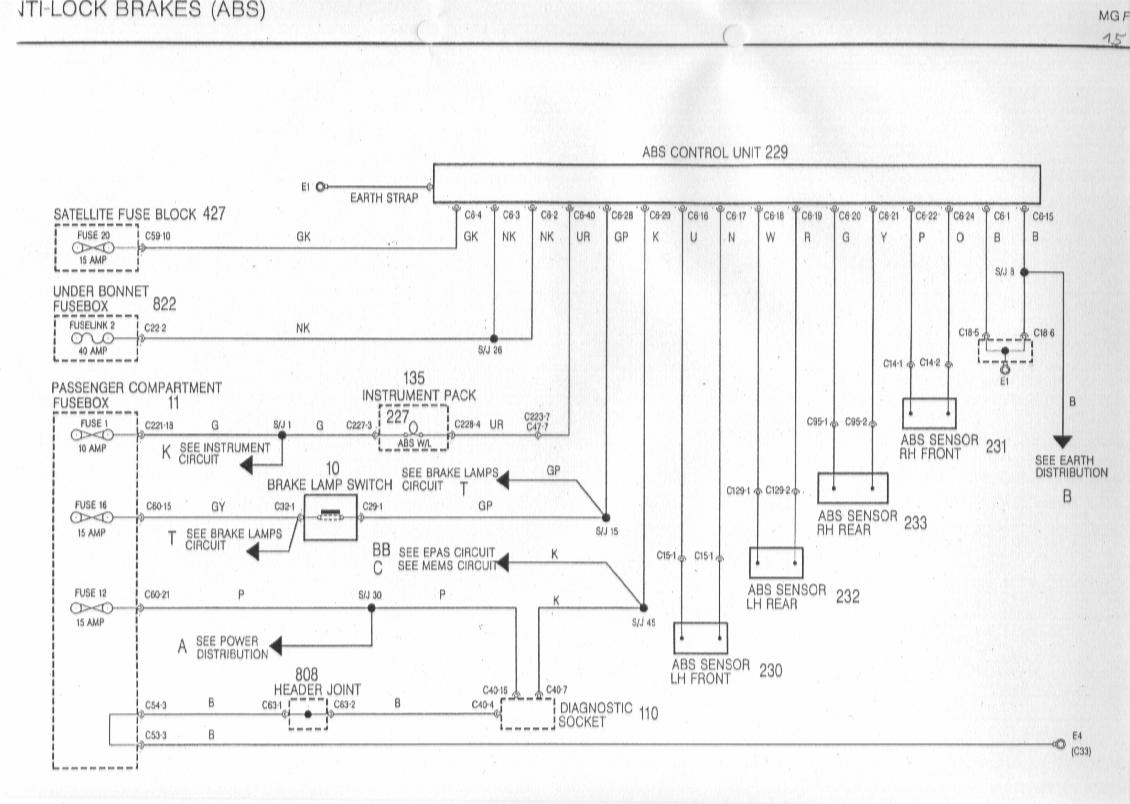 rover 25 wiring diagram of car abs controller pinout needed mg org forums