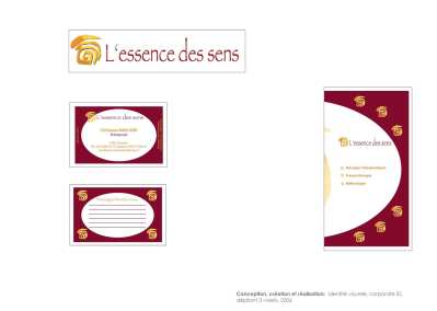 Essencedessens - visual identity - leaflet