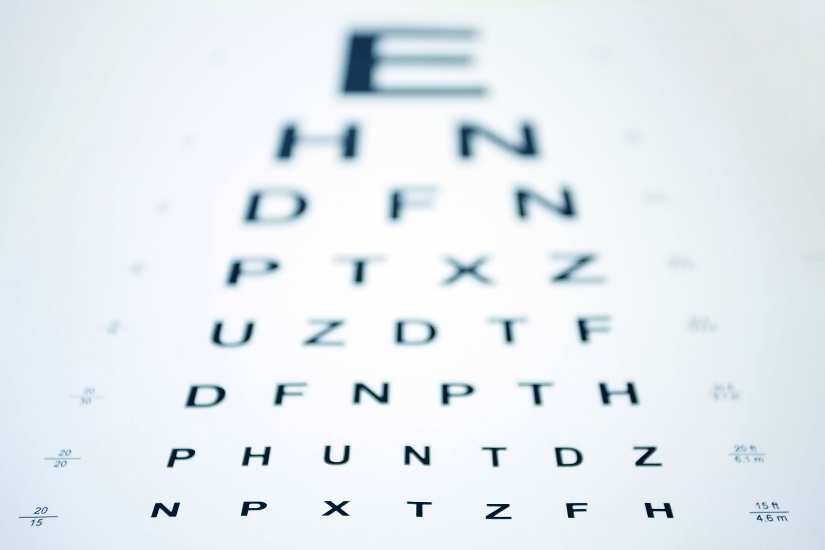 2705196 - snellen eye chart with shallow depth of field