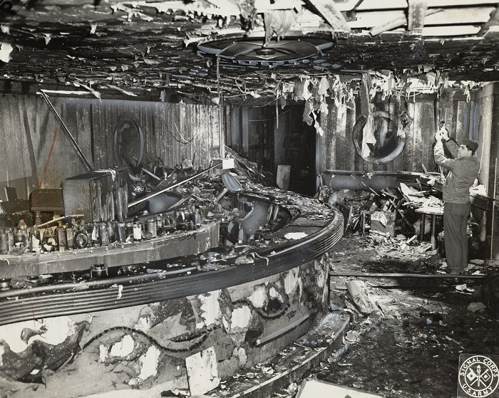 Image of the aftermath of the Cocoanut Grove fire
