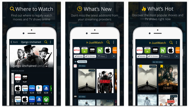 Free iPhone apps - JustWatch