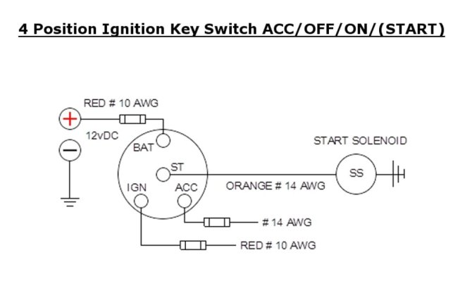 diagram 3 position ignition switch wiring diagram full