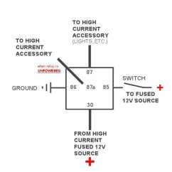 Boat Accessory Switch Panel Wiring Diagram Kenwood Harness Colors Universal 40 Amp Relay — 12 Volt Car, Boat, And Truck | Mgi Speedware