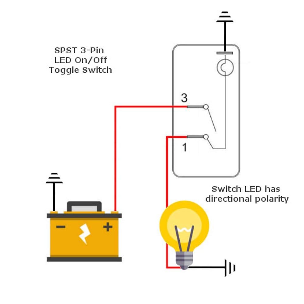 medium resolution of spst led toggle wiring diagram