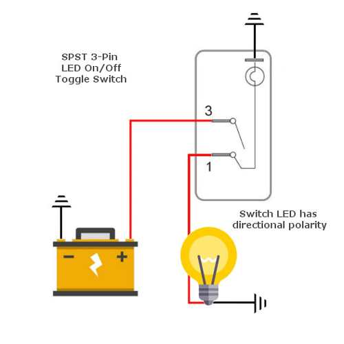 small resolution of spst led toggle wiring diagram