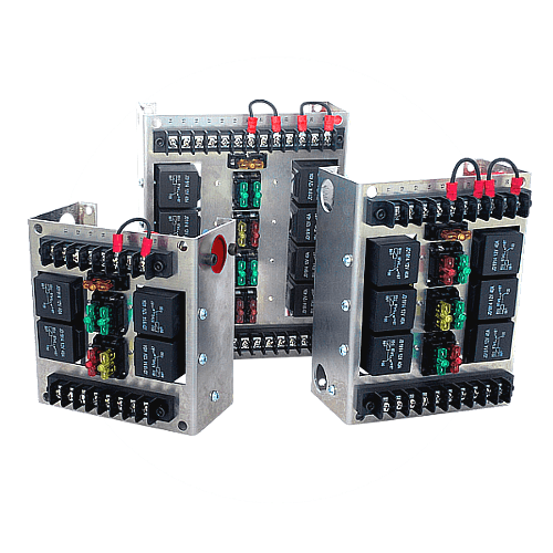 mgi speedware — race car relay panels  fuses  switches