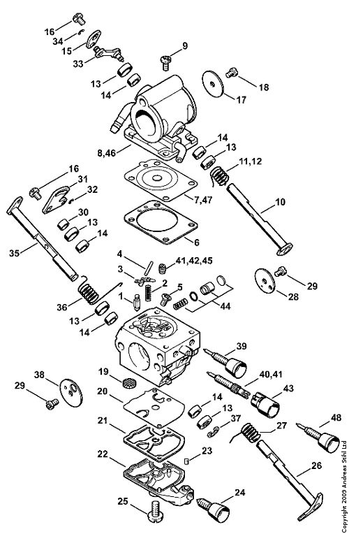 Stihl Fs 120 Parts Diagram, Stihl, Free Engine Image For