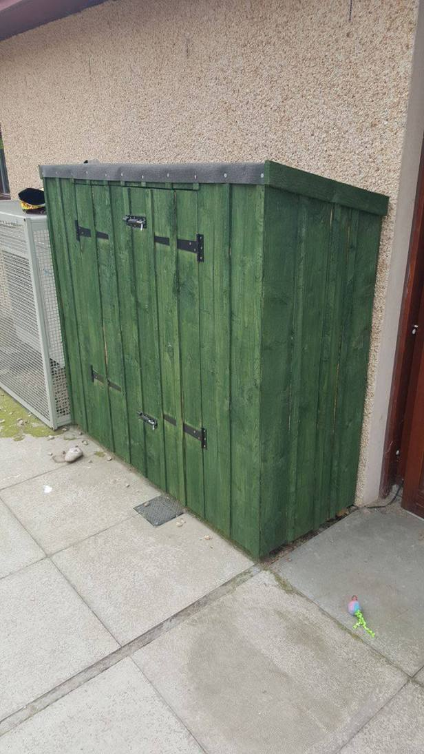 Green Tool Shed